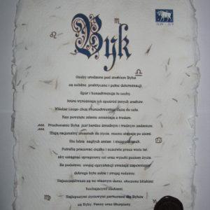 Horoskop na papierze ręcznie czerpanym