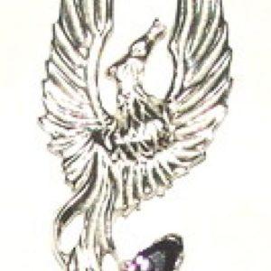 Feniks srebro Pr.0925 z dwoma ametystami