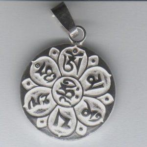 Wisior OM-MANI-PADME-HUM srebro pr. 0925