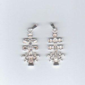 Krzyż Caravaca ; srebro 0925 ; wys ok. 30 mm