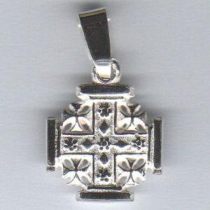 Krzyż Jerozolimski srebro pr. 0925