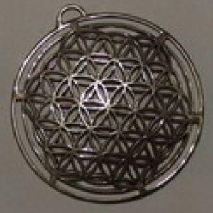 Kwiat Życia srebro pr.0925  śr37mm