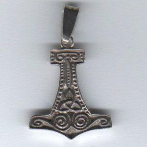 Młot Thora wisior srebro pr. 0925