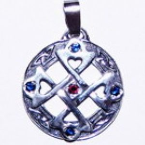Krzyż serca wisior srebro Pr.0925 śr25mm