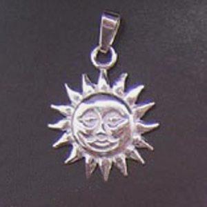 Słońce wisior mały srebro pr. 0925